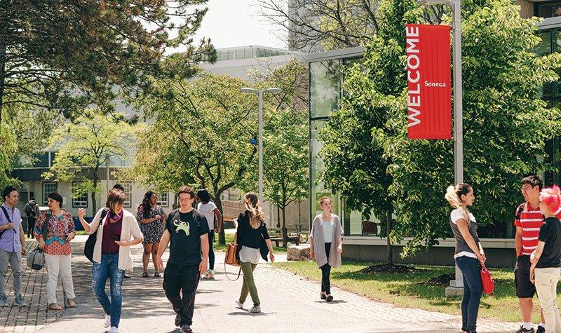 محوطه دانشگاه کانادا تحصیل در سنکا